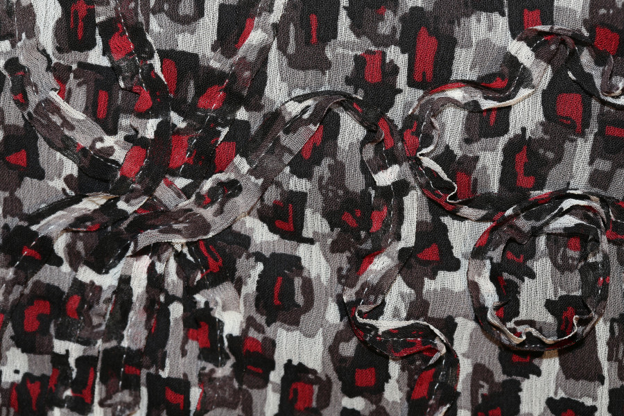City Savvy Red & Black Silk